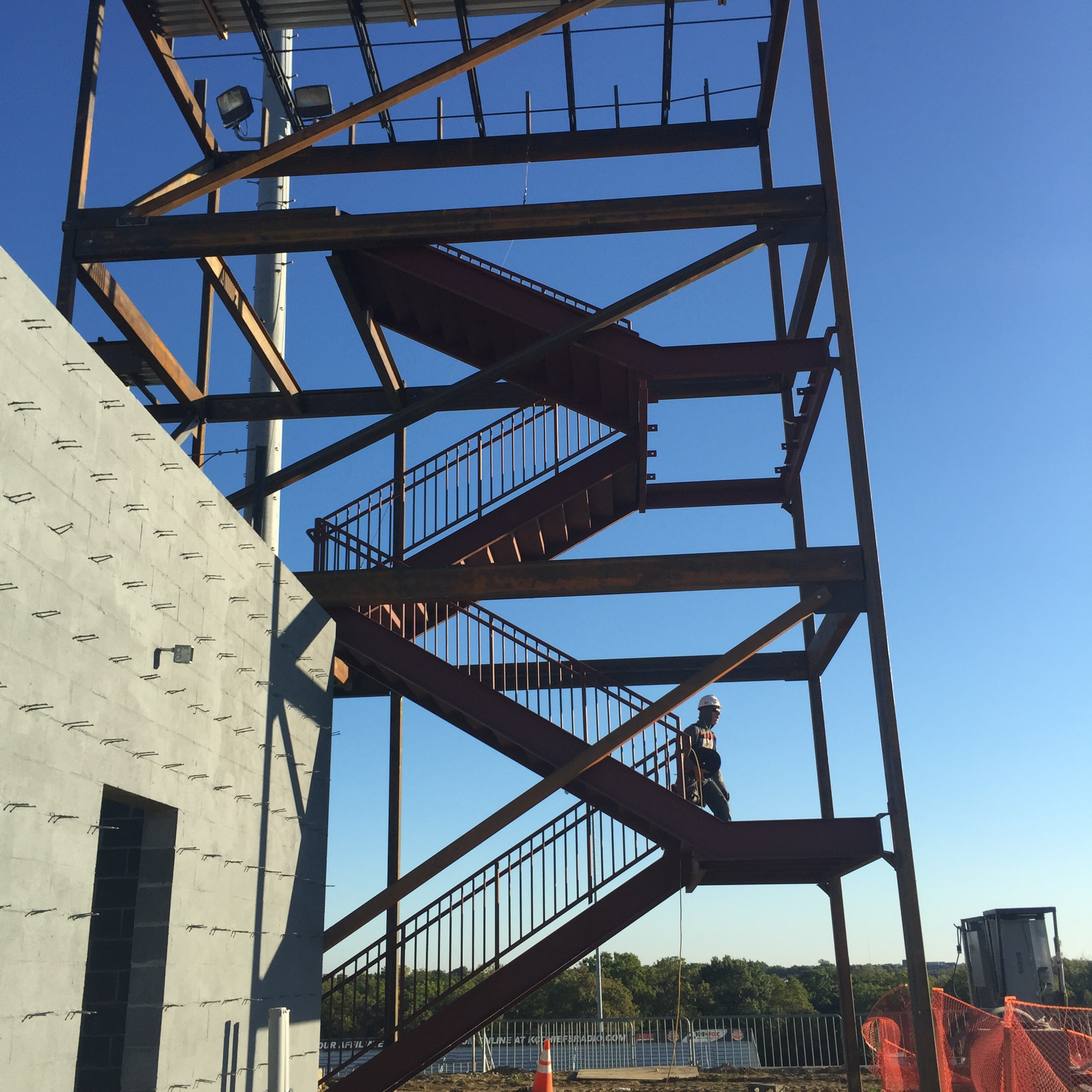 Industrial stairs require the highest safety standards, and structural steel holds up.